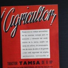 Coches y Motocicletas: FOLLETO PUBLICITARIO TRACTOR TAMSA. COMPLETO E IMPECABLE. Lote 64145682