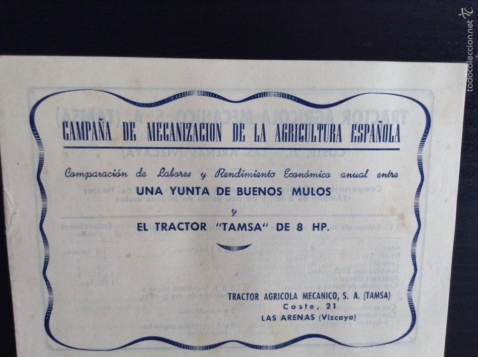 Coches y Motocicletas: Folleto publicitario Tractor TAMSA. COMPLETO E IMPECABLE - Foto 6 - 64145682