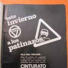 Coches y Motocicletas: PUBLICIDAD 1970 - COLECCION COCHES - PIRELLI CINTURATO - TRASERA SEAT 850 SPORT COUPE. Lote 64398323
