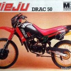 Coches y Motocicletas: CATÁLOGO ORIGINAL RIEJU DRAC 50.. Lote 64476087