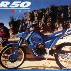 Coches y Motocicletas: CATÁLOGO ORIGINAL SUZUKI DR 50. Lote 147124126