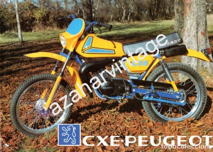 FOLLETO PUBLICITARIO CXE-PEUGEOT, ORIGINAL DE EPOCA (Coches y Motocicletas Antiguas y Clásicas - Catálogos, Publicidad y Libros de mecánica)