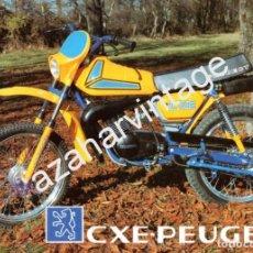 Coches y Motocicletas: FOLLETO PUBLICITARIO CXE-PEUGEOT, ORIGINAL DE EPOCA. Lote 66255678