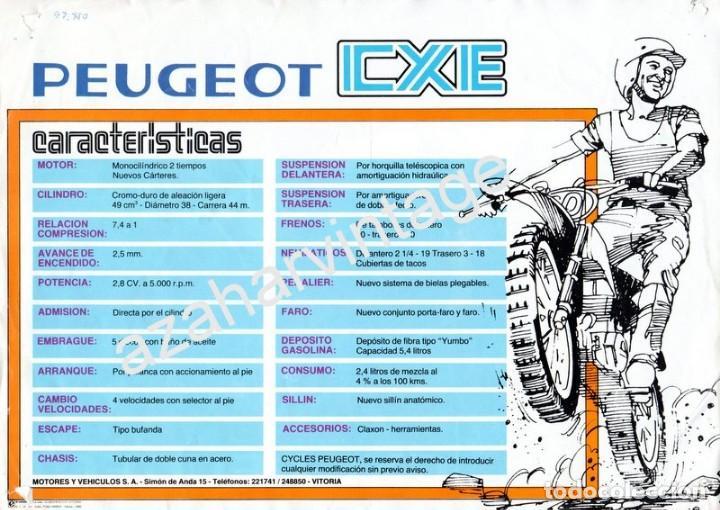 Coches y Motocicletas: FOLLETO PUBLICITARIO CXE-PEUGEOT, ORIGINAL DE EPOCA - Foto 2 - 66255678