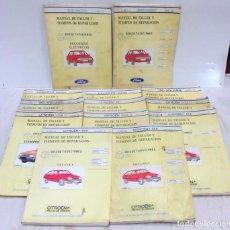 Coches y Motocicletas: MANUAL DE TALLER Y TIEMPOS DE REPARACION. 13 LIBROS. VER DESCRIPCION. Lote 67094557