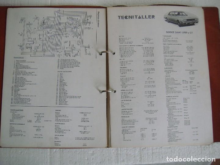 ARCHIVADOR FICHAS TECNITALLER, DE LOS AÑOS 70 (Coches y Motocicletas Antiguas y Clásicas - Catálogos, Publicidad y Libros de mecánica)