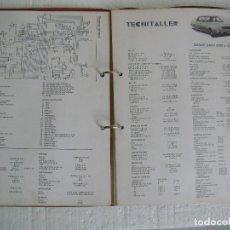 Coches y Motocicletas: ARCHIVADOR FICHAS TECNITALLER, DE LOS AÑOS 70. Lote 67279637