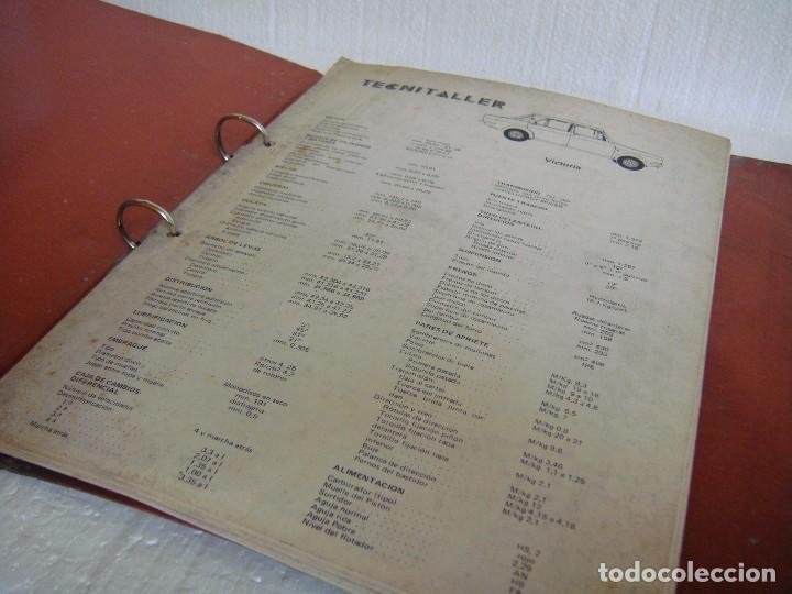 Coches y Motocicletas: ARCHIVADOR FICHAS TECNITALLER, DE LOS AÑOS 70 - Foto 2 - 67279637