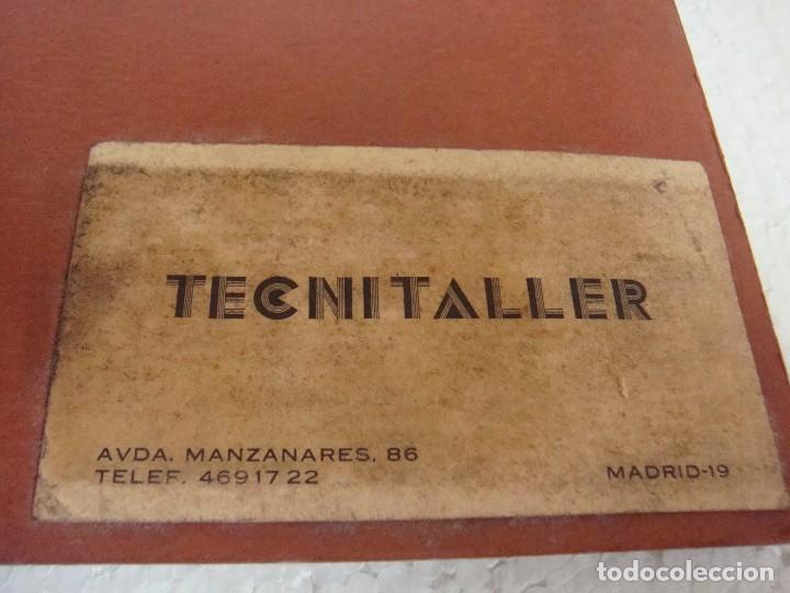 Coches y Motocicletas: ARCHIVADOR FICHAS TECNITALLER, DE LOS AÑOS 70 - Foto 3 - 67279637