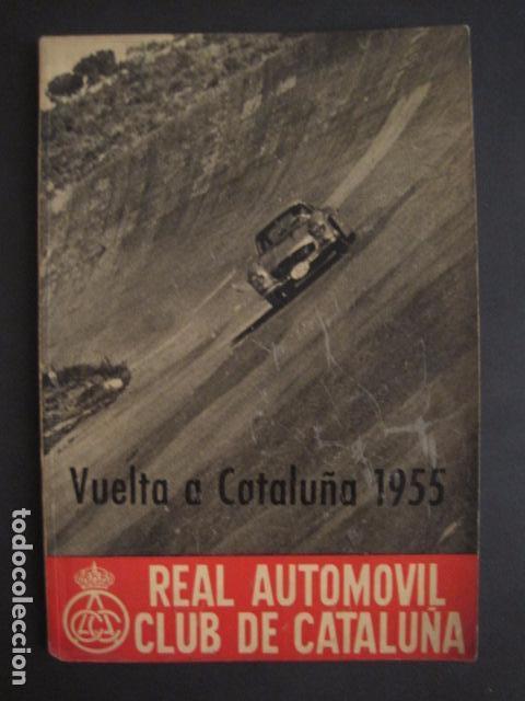 Coches y Motocicletas: REAL AUTOMOVIL CLUB DE CATALUÑA - VUELTA A CATALUÑA 1955 - INCLUYE PLANO -VER FOTOS -(V-7584) - Foto 2 - 67523989