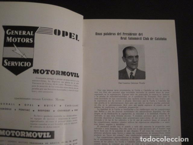 Coches y Motocicletas: REAL AUTOMOVIL CLUB DE CATALUÑA - VUELTA A CATALUÑA 1955 - INCLUYE PLANO -VER FOTOS -(V-7584) - Foto 4 - 67523989