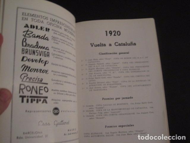 Coches y Motocicletas: REAL AUTOMOVIL CLUB DE CATALUÑA - VUELTA A CATALUÑA 1955 - INCLUYE PLANO -VER FOTOS -(V-7584) - Foto 5 - 67523989