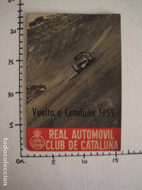 Coches y Motocicletas: REAL AUTOMOVIL CLUB DE CATALUÑA - VUELTA A CATALUÑA 1955 - INCLUYE PLANO -VER FOTOS -(V-7584) - Foto 12 - 67523989