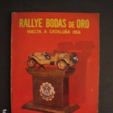 Coches y Motocicletas: REAL AUTOMOVIL CLUB DE CATALUÑA - VUELTA A CATALUÑA 1956 - RALLYE BODAS DE ORO -VER FOTOS -(V-7585). Lote 67524405