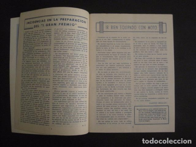 Coches y Motocicletas: I GRAN PREMIO MOTORISMO FIESTAS DEL PILAR -MOTOCLUB ARAGON -19 OCTUBRE 1952- -VER FOTOS -(V-7587) - Foto 4 - 67525501