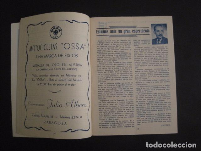 Coches y Motocicletas: I GRAN PREMIO MOTORISMO FIESTAS DEL PILAR -MOTOCLUB ARAGON -19 OCTUBRE 1952- -VER FOTOS -(V-7587) - Foto 5 - 67525501