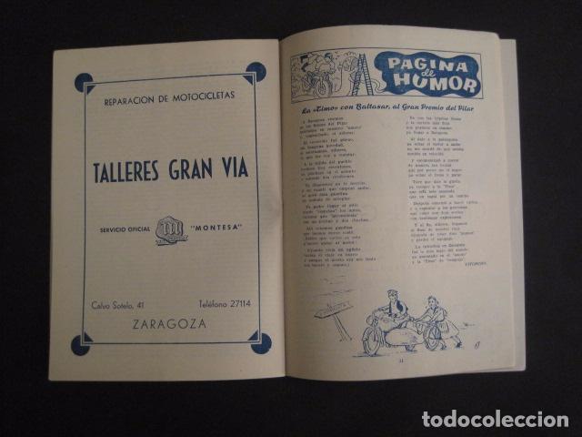 Coches y Motocicletas: I GRAN PREMIO MOTORISMO FIESTAS DEL PILAR -MOTOCLUB ARAGON -19 OCTUBRE 1952- -VER FOTOS -(V-7587) - Foto 7 - 67525501