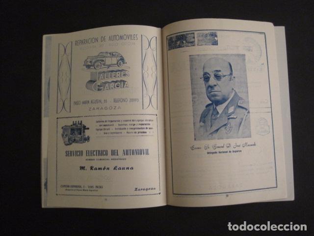 Coches y Motocicletas: I GRAN PREMIO MOTORISMO FIESTAS DEL PILAR -MOTOCLUB ARAGON -19 OCTUBRE 1952- -VER FOTOS -(V-7587) - Foto 9 - 67525501