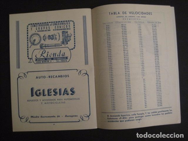 Coches y Motocicletas: I GRAN PREMIO MOTORISMO FIESTAS DEL PILAR -MOTOCLUB ARAGON -19 OCTUBRE 1952- -VER FOTOS -(V-7587) - Foto 10 - 67525501
