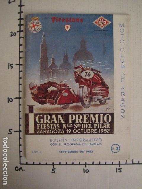 Coches y Motocicletas: I GRAN PREMIO MOTORISMO FIESTAS DEL PILAR -MOTOCLUB ARAGON -19 OCTUBRE 1952- -VER FOTOS -(V-7587) - Foto 13 - 67525501