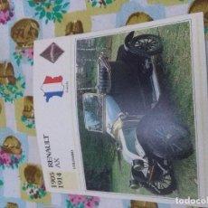 Coches y Motocicletas: FICHAS DE COCHES. RENAULT AX. . Lote 67619321