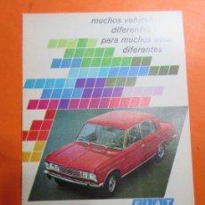 Coches y Motocicletas: PUBLICIDAD 1970 - COLECCION COCHES - FIAT 124. Lote 67730529