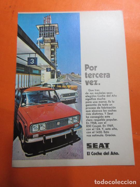 PUBLICIDAD 1970 - COLECCION COCHES - SEAT 124 850 1430 (Coches y Motocicletas Antiguas y Clásicas - Catálogos, Publicidad y Libros de mecánica)