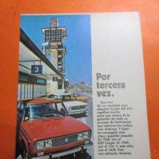 Coches y Motocicletas: PUBLICIDAD 1970 - COLECCION COCHES - SEAT 124 850 1430. Lote 67730589