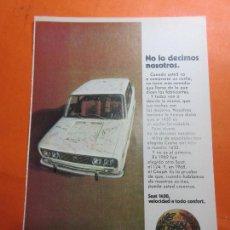 Coches y Motocicletas: PUBLICIDAD 1970 - COLECCION COCHES - SEAT 1430. Lote 67730609