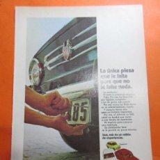 Coches y Motocicletas: PUBLICIDAD 1970 - COLECCION COCHES - SEAT 850. Lote 67730621