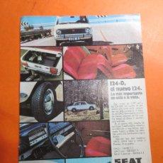 Coches y Motocicletas: PUBLICIDAD 1971 - COLECCION COCHES - SEAT 124 D. Lote 67730685