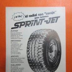 Coches y Motocicletas: PUBLICIDAD 1970 - COLECCION COCHES - NEUMATICOS GENERAL SPRIN JET. Lote 67730785