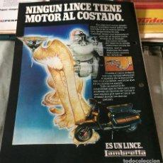 Coches y Motocicletas: PUBLICIDAD EN PRENSA DE MOTOS LAMBRETTA. AÑO 1982. BUEN ESTADO.. Lote 68037545