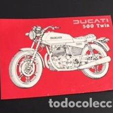 Coches y Motocicletas: FOLLETO CATALOGO PUBLICIDAD ORIGINAL DUCATI 500 TWIN. Lote 68112265