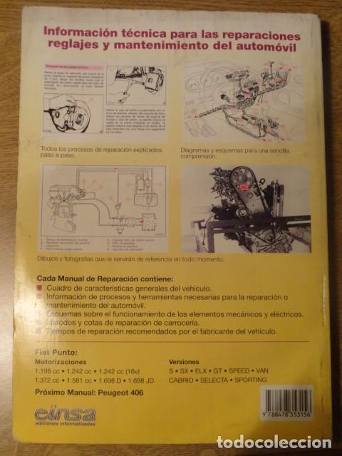 Coches y Motocicletas: MANUAL DE REPARACION FIAT PUNTO GUIA DE TASACIONES EDICION 1999 - Foto 6 - 68405377