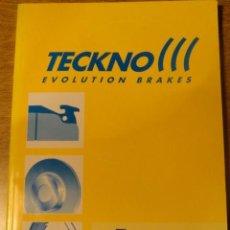 Coches y Motocicletas: MANUAL TECKNO EVOLUTION BRAKES, PROGRAMA INTEGRAL DE FRENOS (COCHE ). Lote 68405869