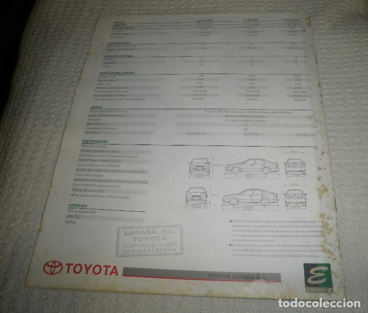 Coches y Motocicletas: Folleto/Catálogo de coches. Toyota Carina E. Años 90, 15 pags - Foto 3 - 68422957