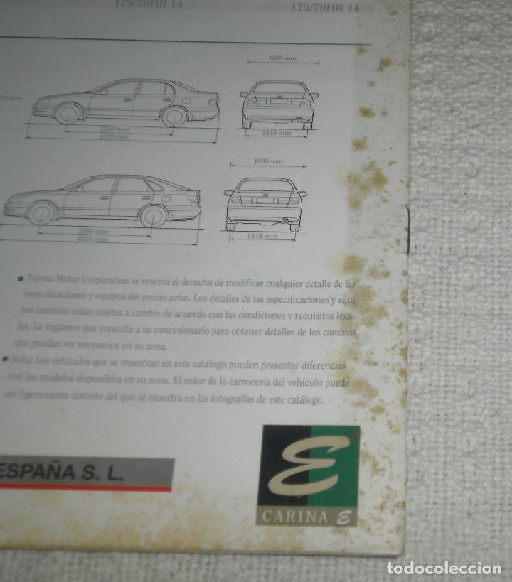 Coches y Motocicletas: Folleto/Catálogo de coches. Toyota Carina E. Años 90, 15 pags - Foto 4 - 68422957