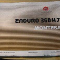 Coches y Motocicletas: CATALOGO MANUAL DE INSTRUCCIONES MOTO MONTESA ENDURO 360 H7 . ORIGINAL MUY BUEN ESTADO . Lote 68426661