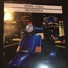 Coches y Motocicletas: FOLLETO CATALOGO PUBLICIDAD ORIGINAL VESPA COSA. Lote 68493401