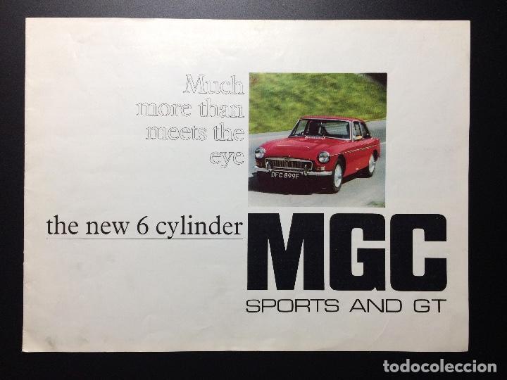 FOLLETO PUBLICITARIO COCHE CLÁSICO MGC SPORTS Y GT 1967-1969 (Coches y Motocicletas Antiguas y Clásicas - Catálogos, Publicidad y Libros de mecánica)