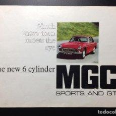 Coches y Motocicletas: FOLLETO PUBLICITARIO COCHE CLÁSICO MGC SPORTS Y GT 1967-1969. Lote 69003629