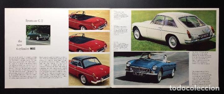 Coches y Motocicletas: Folleto publicitario coche clásico MGC sports y GT 1967-1969 - Foto 2 - 69003629