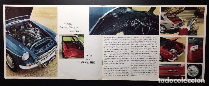 Coches y Motocicletas: Folleto publicitario coche clásico MGC sports y GT 1967-1969 - Foto 3 - 69003629