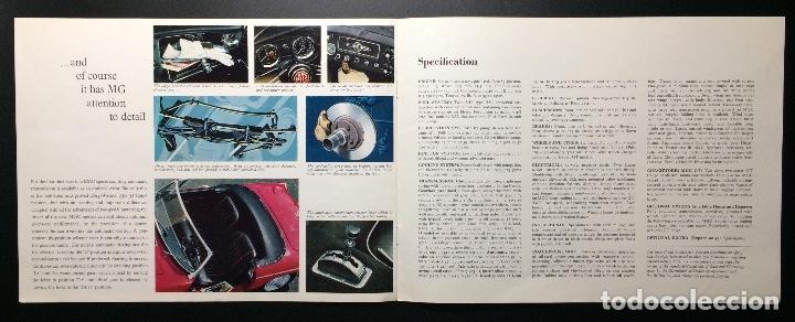 Coches y Motocicletas: Folleto publicitario coche clásico MGC sports y GT 1967-1969 - Foto 4 - 69003629