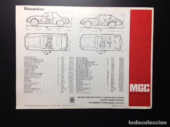 Coches y Motocicletas: Folleto publicitario coche clásico MGC sports y GT 1967-1969 - Foto 5 - 69003629