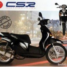 Coches y Motocicletas: CATÁLOGO ORIGINAL CSR MOTORCYCLES - SCOO 125 - 4T.. Lote 69053217