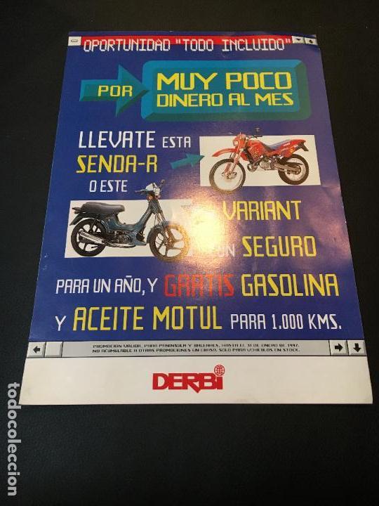 FOLLETO CATALOGO PUBLICIDAD ORIGINAL MOTO DERBI SENDA-R VARIANT 1997 (Coches y Motocicletas Antiguas y Clásicas - Catálogos, Publicidad y Libros de mecánica)
