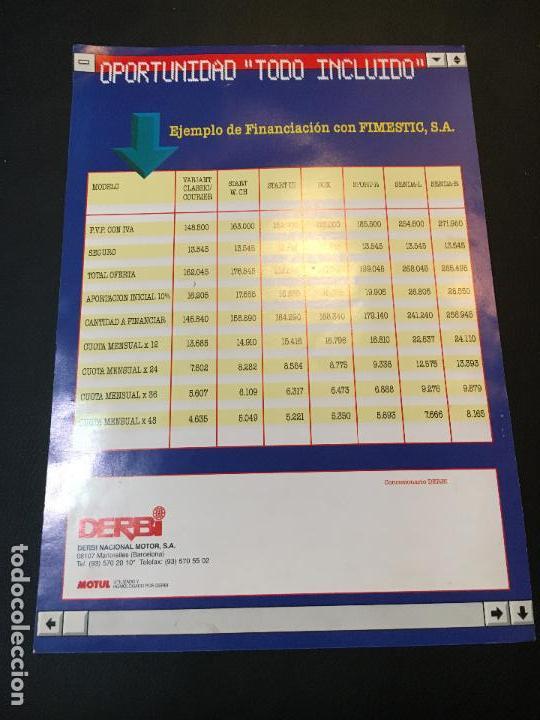 Coches y Motocicletas: Folleto catalogo publicidad original moto derbi senda-r variant 1997 - Foto 2 - 69666185