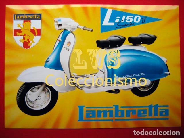 LAMBRETTA LI 150 PUBLICIDAD IMAGENES - MOTOCICLISMO MOTOS MOTOR (Coches y Motocicletas Antiguas y Clásicas - Catálogos, Publicidad y Libros de mecánica)